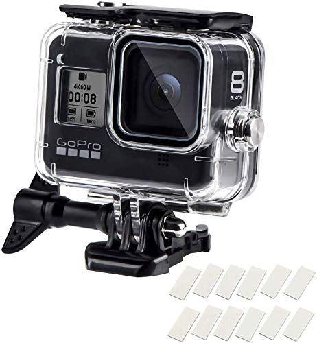 Guedieo 防水ハウジングケース スキー対応 Gopro Hero8 Black ブラック対応 日本製 水中撮影用アクセサリー アクションカメラ保護ケース 百貨店 防塵 Go Pro アクションカメラ対応 60m水深ダイビング