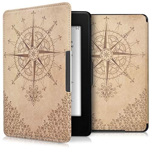 kwmobile SALE開催中 対応: Amazon Kindle Paperwhite ケース - 電子書籍カバー 18-11 バロックコンパス 卸直営 バロックコンパスデザイン Reader オートスリープ PUレザー 保護