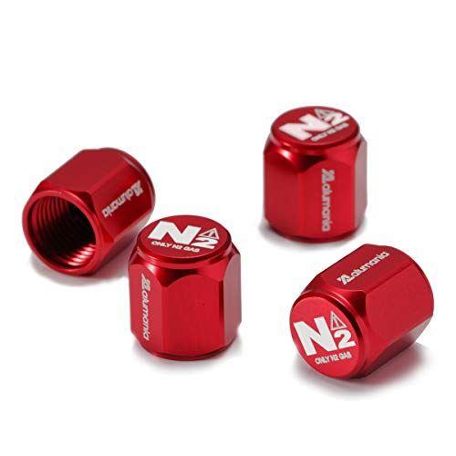 alumania ※ラッピング ※ 窒素ガス注入車用 N2表記 一部予約 エアバルブキャップ アルミフルビレット RED HEX-SHORT-N2 4個セット