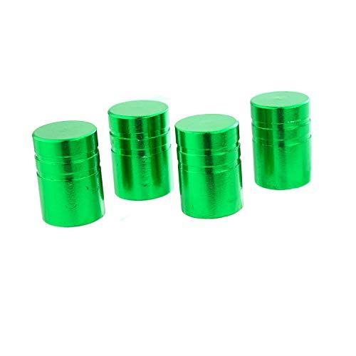 Lunsom円筒ホイールエアバルブカバー 4個 直営店 緑 売り出し