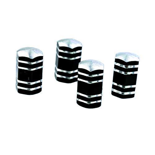 バーゲンセール 激安特価品 Lunsom六角形ホイールエアバルブカバー 4個 黒