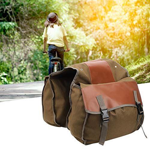 自転車バッグ、マウンテンバイク、テールシートパニア、40L大容量のアウトドアスポーツメンズ&レディース登山長距離ライディング(Khaki, One size)