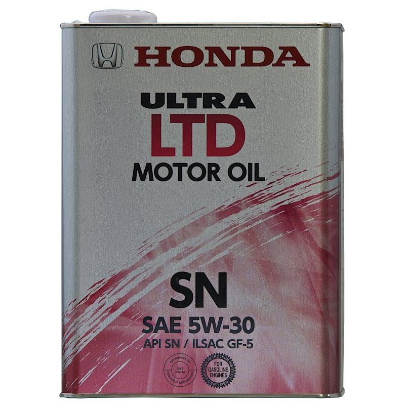 【送料込み、6缶セット】ホンダ純正 ウルトラ LTD SN GF-5 5W30 ガソリンエンジンオイル 4L 6缶