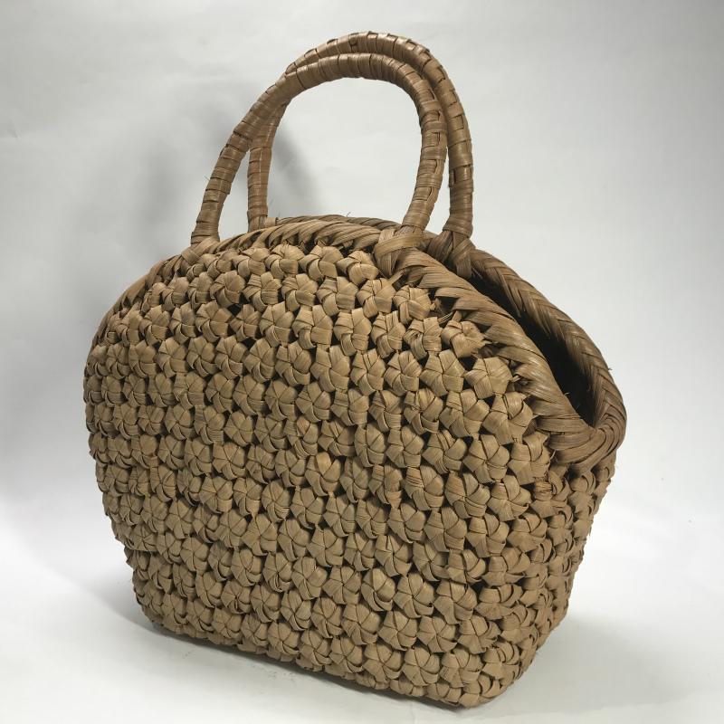 【山ぶどう かごバッグ】六角花編 かごバッグ 花編 ハンドバッグ 和装小物 レディース【B103-6】