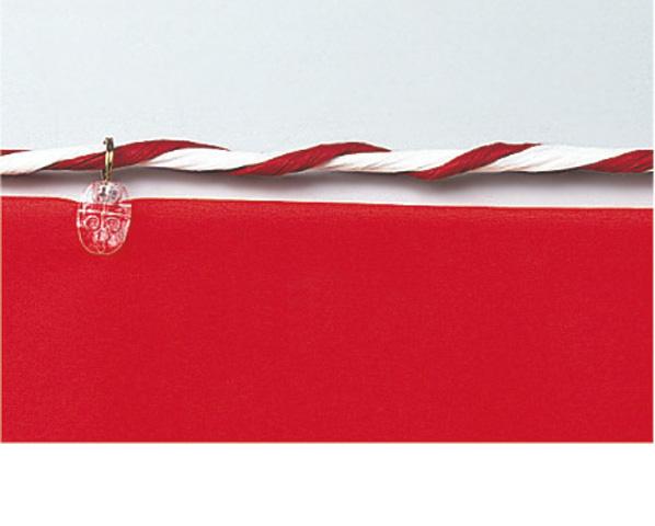 紅白ロープ(反物用)[サイズ:6mm×100m]