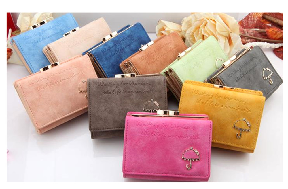 Cute Umbrella Decoration To Choose From 10 Colors Mini Purse Small Palm Size Las Wallet Two Fold The Coin Available