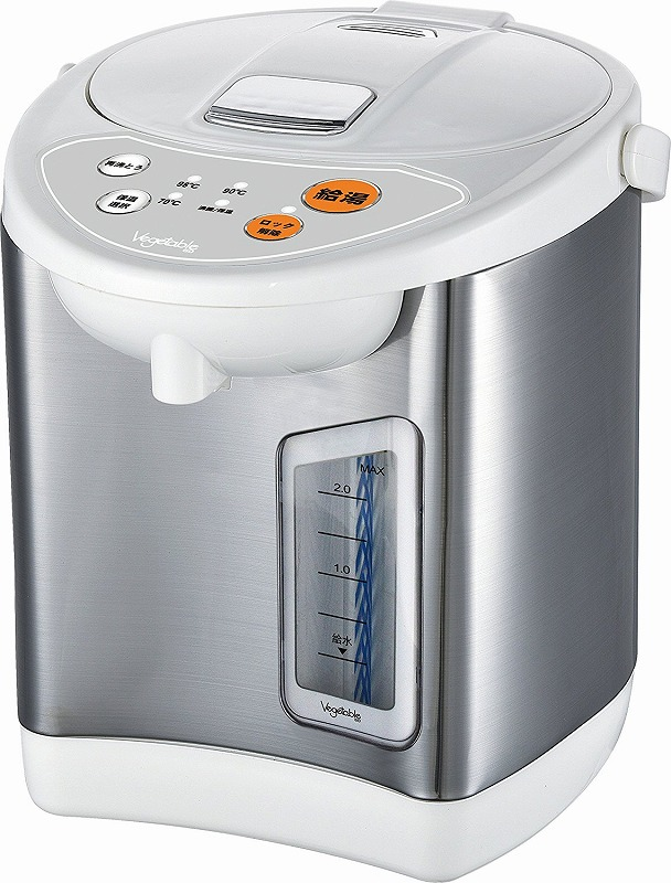 定番から日本未入荷 送料無料 保温温度3段階切り替え 飲みたいときにすぐ使える 新品 Vegetable2.2L電動給湯ポットGD-UP220 買物