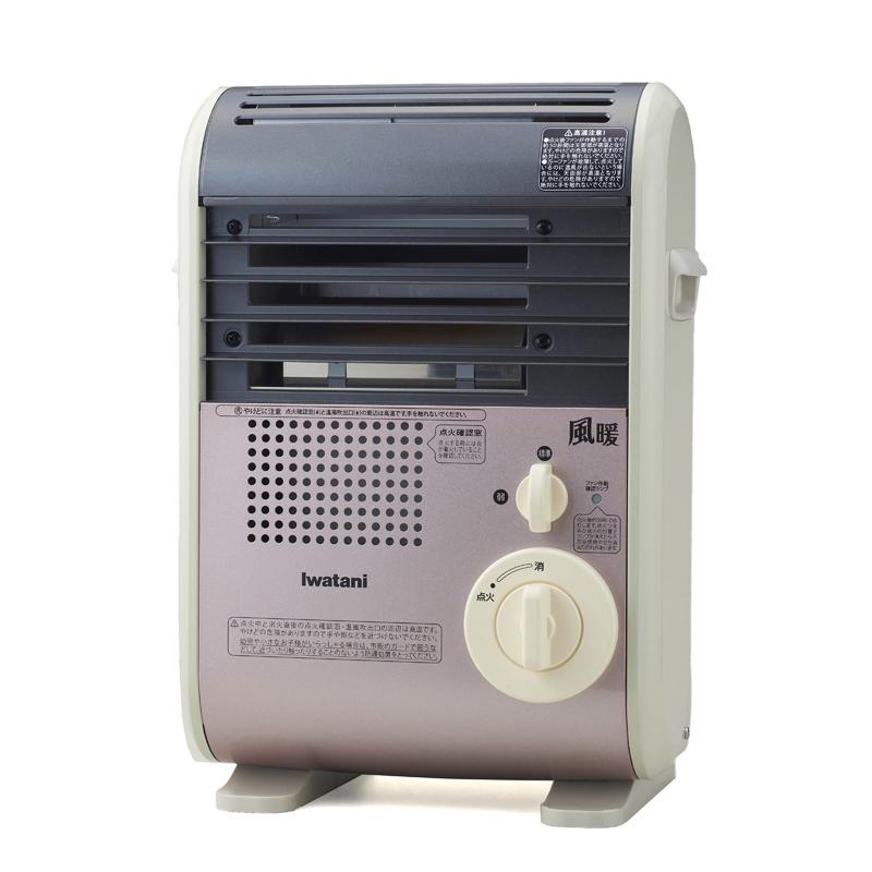 防災 正規品送料無料 災害時にも 発電するコードレスファンヒーター 電池も電源コードも使わず 温風でお部屋の隅々まで暖める 送料無料 イワタニカセットガスファンヒーター風暖 KAZEDAN屋内専用カラー:ライトローズCB-GFH-3 IWATANI 35%OFF 新品