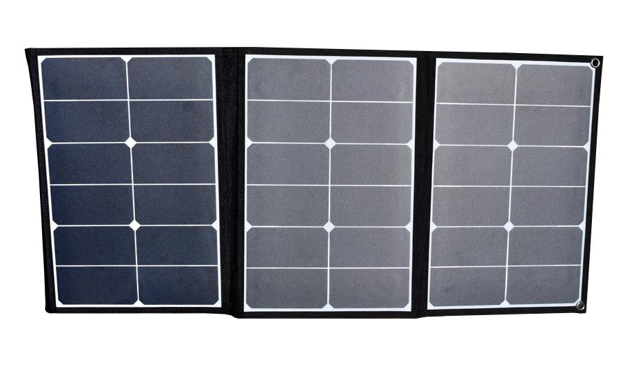 【新品】【送料無料!】Mitsukin 三金商事折り畳み式ソーラーパネル充電器60WDC/USB出力対応SOPA-60