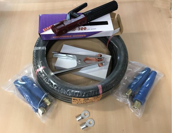 溶接キャブタイヤ WCT38SQ 10m+付属品 (ホルダー、アースクリップ、三立 300Aジョイント2組)