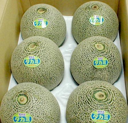 你尝瓜 (高见甜瓜) 5 公斤 6 7 件 takamimeron 是完善的香气和甜味、 甜度、 坚实的果肉的特点。 翻译瀑布有点外观是绿色肉甜瓜 02P05July14