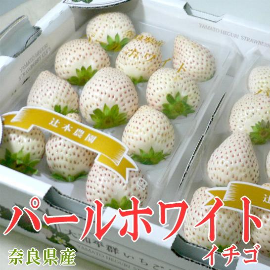 【白いちご】奈良産 パールホワイトいちご 11~15個前後入り×2パック入り箱 約540g※希少品のためお届け日はご指定いただけません|白いいちご 苺 イチゴ 生イチゴ