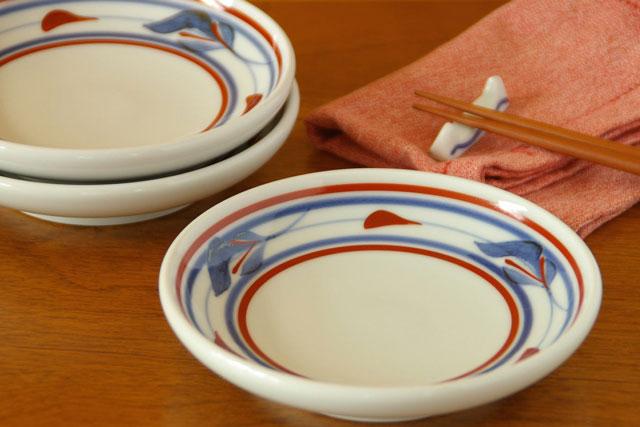 砥部焼 みつ葉の取皿