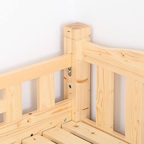 小3段床天然木床REBECCA 3段床安排北欧松树3段床帘子床木制小孩床简单漂亮