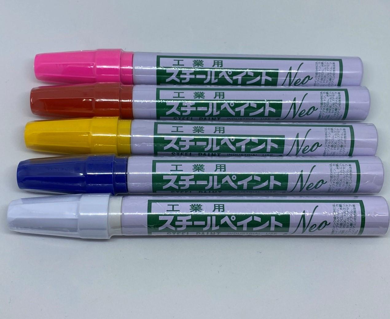 ネコポスOK 硬芯マーカー細字 アルトン 建築用筆記具 工業用スチールペイント 細字白 ピンク 赤NEO600 黄 直輸入品激安 NEOに変わりました 送料無料限定セール中 青