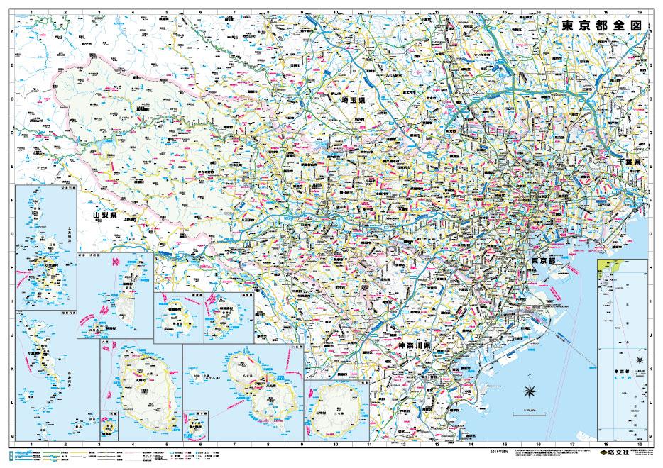 激安通販 地図 東京都 都道府県 ポスター ビジネス 営業戦略 表面ビニールコーティング加工※水性ペンが使えます 東京都全図 B1判 2021年最新版 壁貼り 限定特価