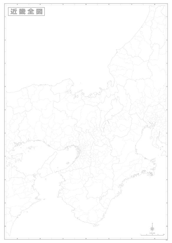 B0判近畿白地図ポスター