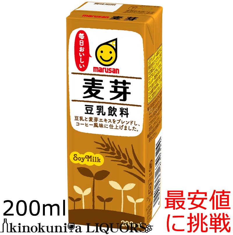 マルサンアイ 豆乳飲料 麦芽 200ml 一本あたり63.4円 税抜約58.7円 豆乳 常温保存可能 200ml×24本 w4 AL完売しました。 年末年始大決算 麦芽豆乳 お買い得 sybp
