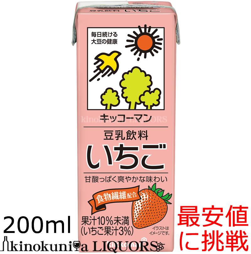 キッコーマン 豆乳飲料いちご イチゴ キャンペーンもお見逃しなく 安全 200ml 200ml×18本 豆乳 紀文豆乳は キッコーマン豆乳 常温保存可能 キッコーマンブランドになりました
