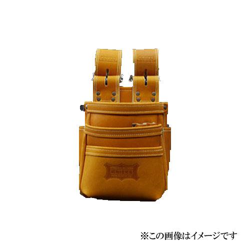 【代引き不可】KNICKS(ニックス) KGC-301DDX 最高級グローブ革使用3段腰袋〈キャメル〉