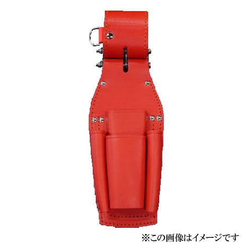 【代引き不可】KNICKS(ニックス) KR-401PLLDX チェーン式ペンチ・ドライバーホルダー レッド (ペンチ差し 工具袋 ツールホルダー)