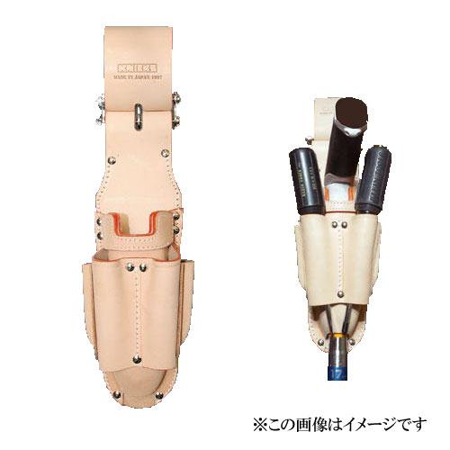 【代引き不可】KNICKS(ニックス) KN-103JOCDX チェーン式折畳みタイプ3P充電ドライバーホルダー (ペンチ差し 工具袋 ツールホルダー)