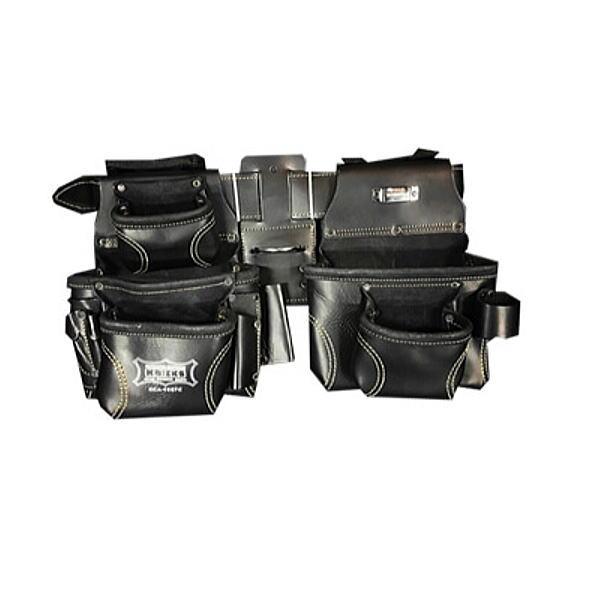 【代引き不可】KNICKS(ニックス) KCA-9507C 2x2ポケットレザー ツールバッグ釘袋 ベルト取外可 (腰袋 ツールバッグ 皮 革 スエード)