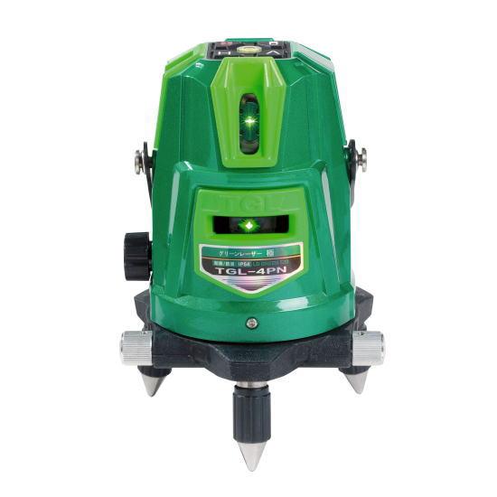 高儀 HUT グリーンレーザー墨出し器 TGL-4PN(墨出器 ドットライン IP54 防塵・防滴 傾斜機能付)