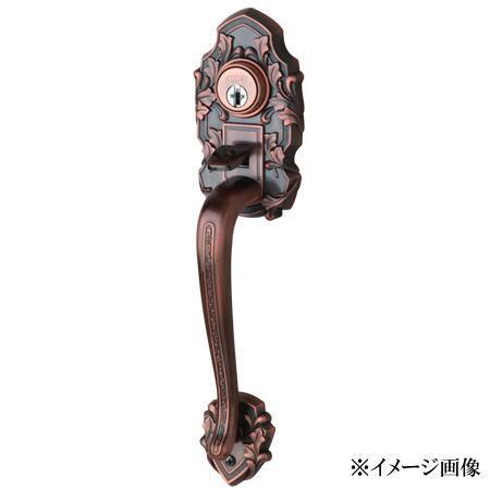 長沢製作所 古代 装飾玄関錠 コンテッサ K-201 両面 24066GB (旧品番24065GB)