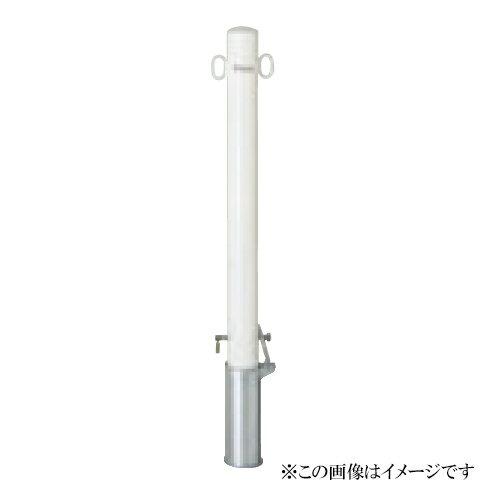 サンキン メドーマルク(車止め) ポストタイプ FP2-8SK 鉄製(メーカー直送品 代引き・後払い不可)