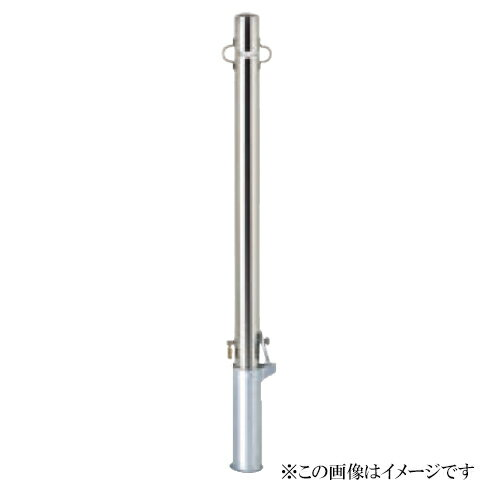 サンキン メドーマルク(車止め) ポストタイプ SP2-6SK ステンレス製(メーカー直送品 代引き・後払い不可)