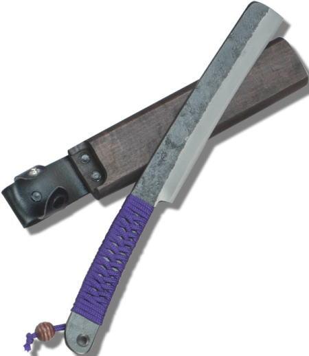 セキカワ 竹割鉈 [左藤蔵] (両刃 共柄紐巻 180mm 木鞘入) HK-2028