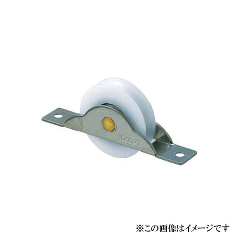 丸喜金属本社 MK ステンレス枠 デルベア戸車(平型) P-125KO352 (1箱20個入)