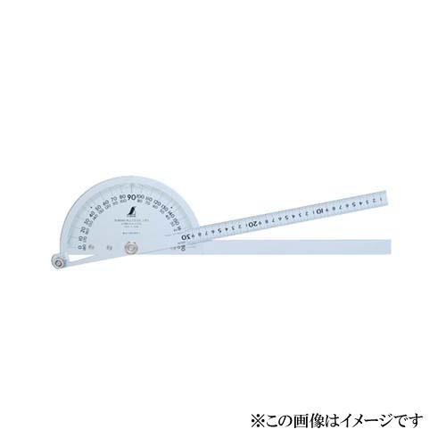 シンワ測定 プロトラクター No.300 シルバー φ210 竿目盛30cm 2本竿 62839