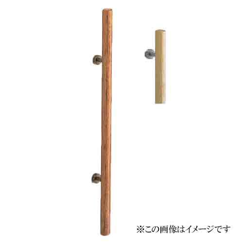 シロクマ 白熊印・ドアー取手 No.113 ウッド丸型取手 800 仕上:白木ウッド・ホワイト