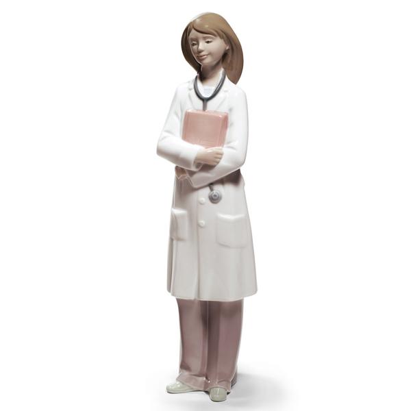 【NAO】ポーセリン人形「やさしいドクター」【メーカー型番:02001684】【スペイン製 スペイン・バレンシアで1968年に登場したリヤドロの姉妹ブランド】