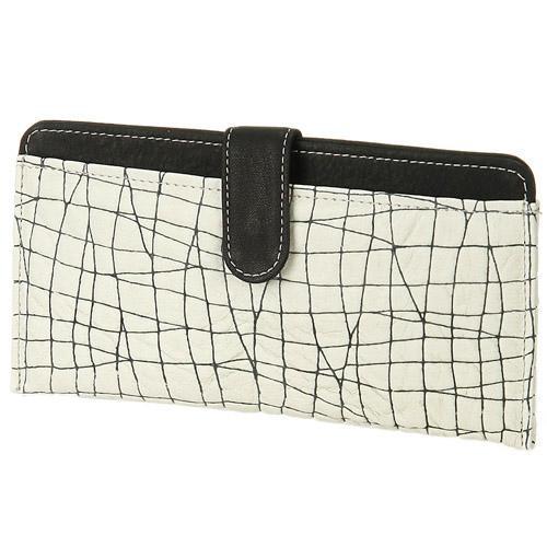 【メール便OK】【日本製】薄型長財布「ランダムクロス(ブラック)」
