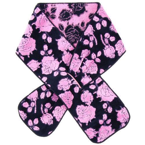 セール品 本物 市場価格 メール便OK 日本製今治産 タオルマフラー ピンク 花柄