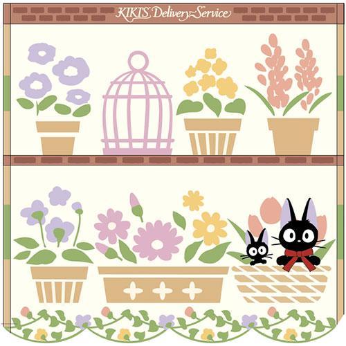 【メール便OK】【魔女の宅急便】<BR>ミニタオル「お気に入りの花」