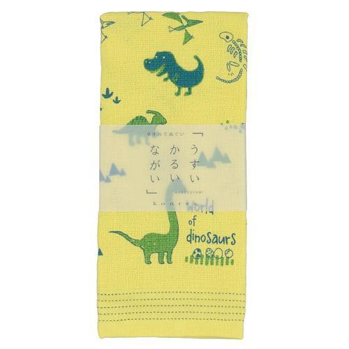 【メール便OK】【日本製(今治産)コンテックス(Kontex)】<BR>薄い・ 軽い・ 長い・手ぬぐいタオル「恐竜の国」