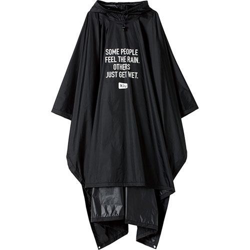 【KIU】<BR>エアライトポンチョ(ブラック)