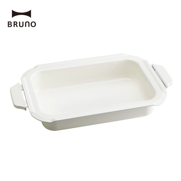 お料理のレパートリーがぐん!と増えるセラミックコート鍋 BRUNO ブルーノ コンパクトホットプレート用 セラミックコート鍋 深鍋 BOE021-NABE