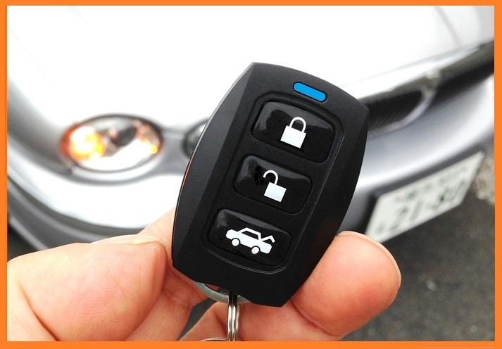 キーレスエントリー リモコンドアロック 大手自動車ディーラーも採用スモールミニ(トランクオープン機能付) スペアリモコン付 【12V車専用】46-1874D リモコン×2個