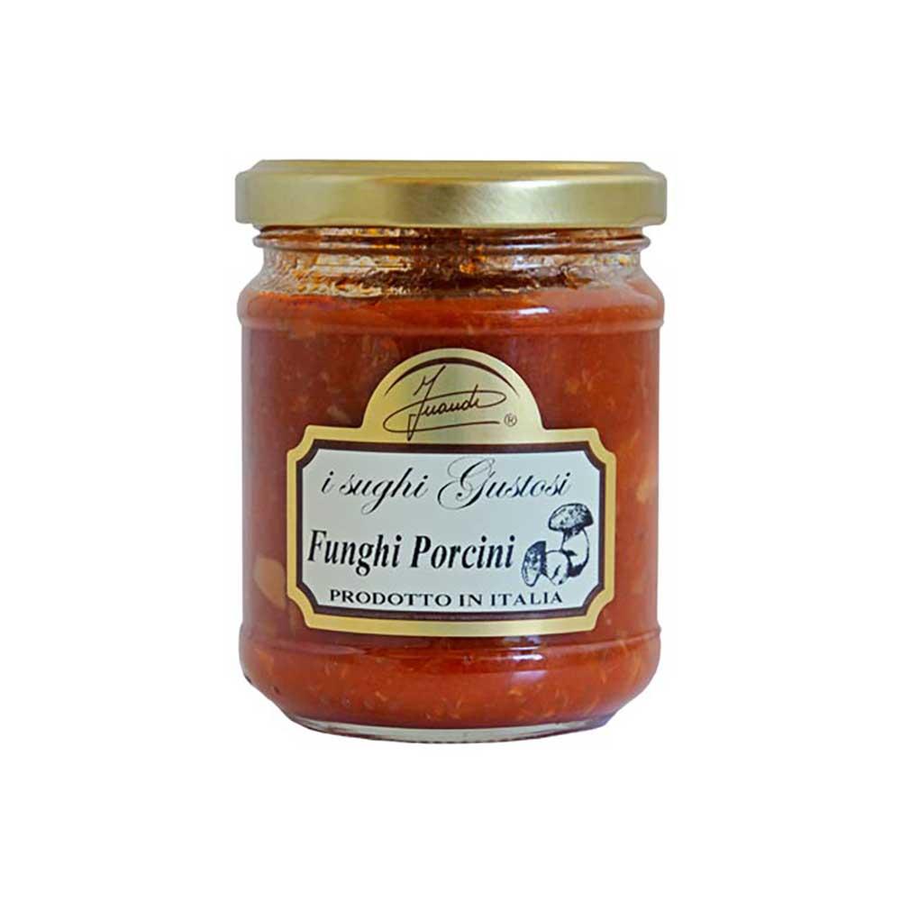 ポルチーニ茸がふんだんに入ったトマトがベースのパスタソースです 茹でたパスタにからめるだけで ポルチーニの香りが広がる本格的なパスタが簡単に出来上がります トマトとポルチーニ茸のパスタソース お得クーポン発行中 180g INAUDI イナウディ トマト お中元 ソテー ギフト ポルチーニ茸 安心と信頼 パスタソース