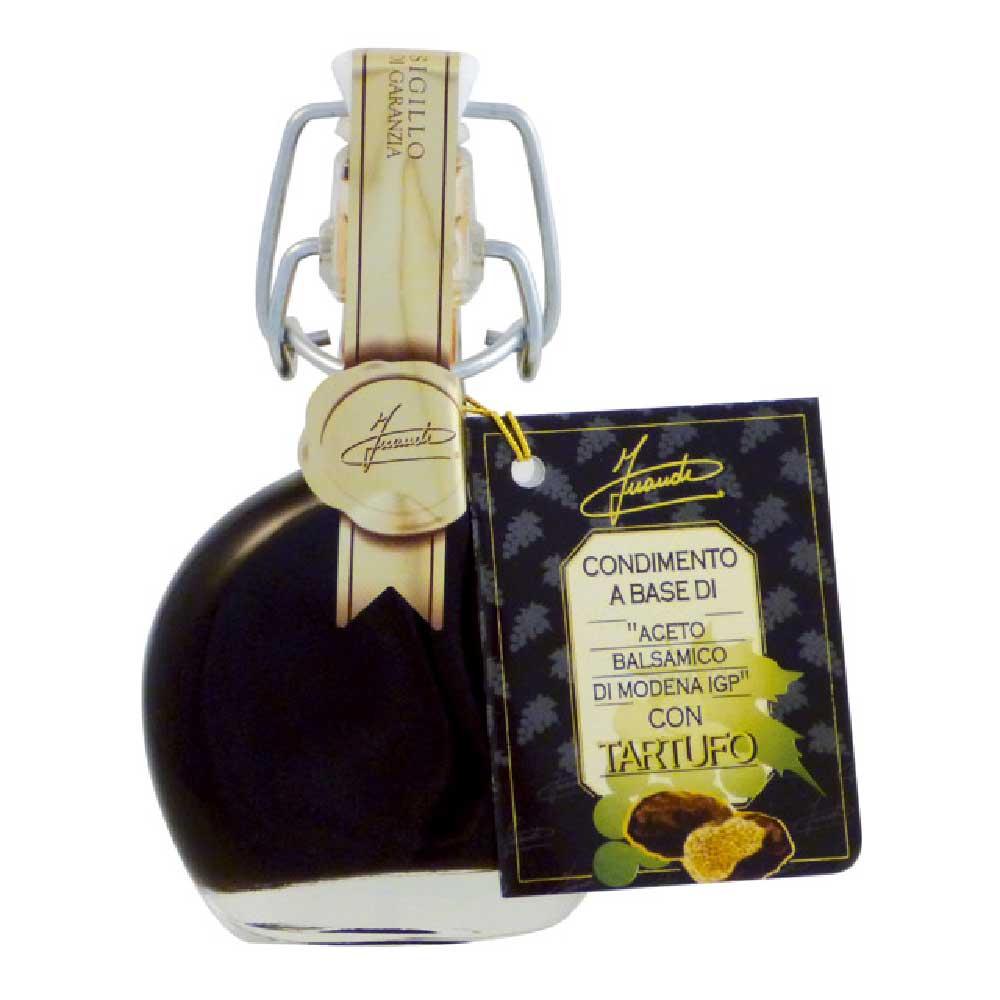 長期熟成アチェートバルサミコに黒トリュフを加えた贅を極めたバルサミコ酢です バルサミコ酢の自然でまろやかな甘みと酸味 黒トリュフの芳香が料理に高級感を与えます 別倉庫からの配送 トリュフ入りアチェートバルサミコ 40ml x お中元 ギフト INAUDI 新作入荷 4本 イナウディ