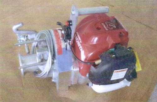 激安価格の PK5型:木こり屋 キャプスタン式 ポータブル・ロープウインチ-DIY・工具