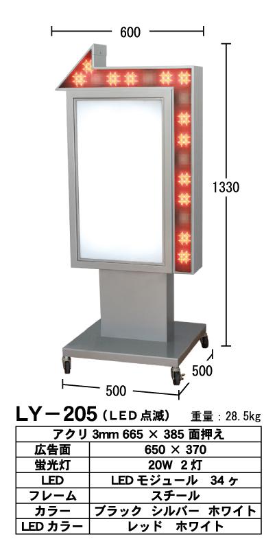 電飾看板 内照看板可動式 アルミ製 LED点滅赤矢印