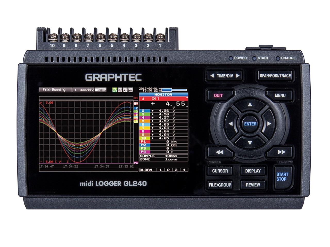 グラフテック データロガー midi LOGGER GL240-SD