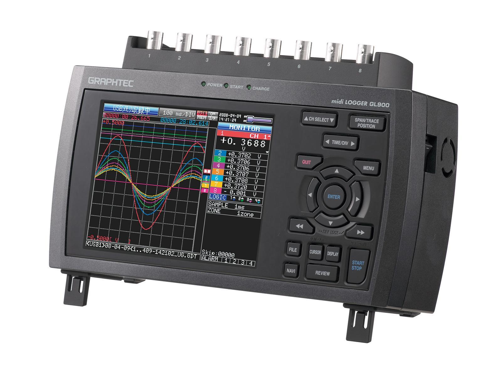 【在庫あり】 データロガー midi GL980:東海システムサービス グラフテック LOGGER-DIY・工具