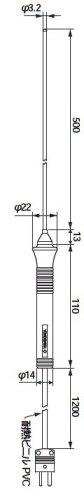 横河計測 TX/TY用温度プローブ90022B